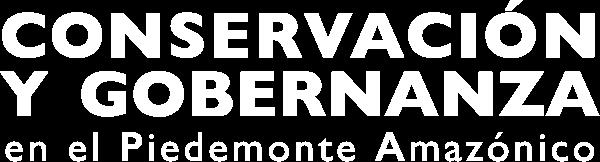 Logo Conservación y Gobernanza en el Piedemenote Amazónico
